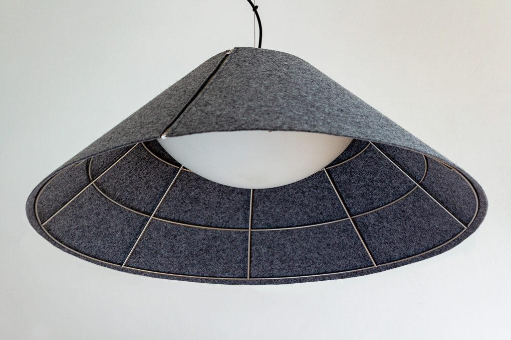 Zip Soft Gray-LAMPA FILCOWA - TŁUMI DŹWIĘK W POMIESZCZENIU