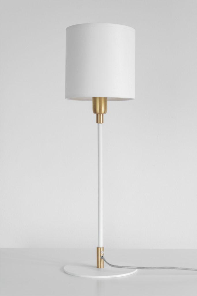 lampka nocna biało-złota