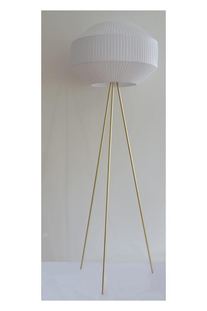 Tripod Bubble złoto-biały