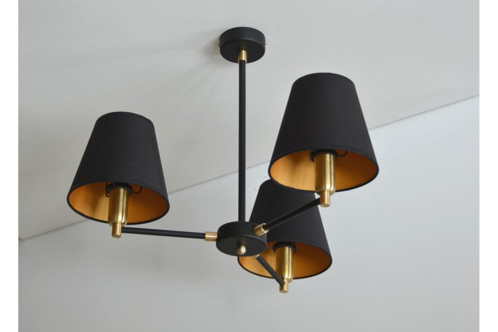 Żyrandol złoto-czarny Z-3
